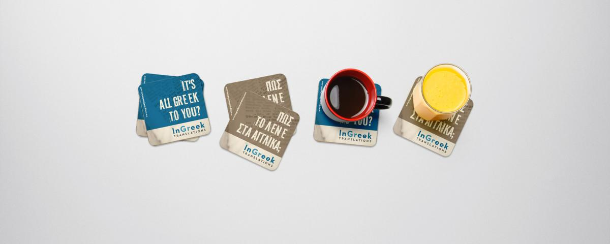 Enter to win a pair of InGreek coasters.